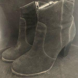 Joie Black Suede Heel Booties (8.5)